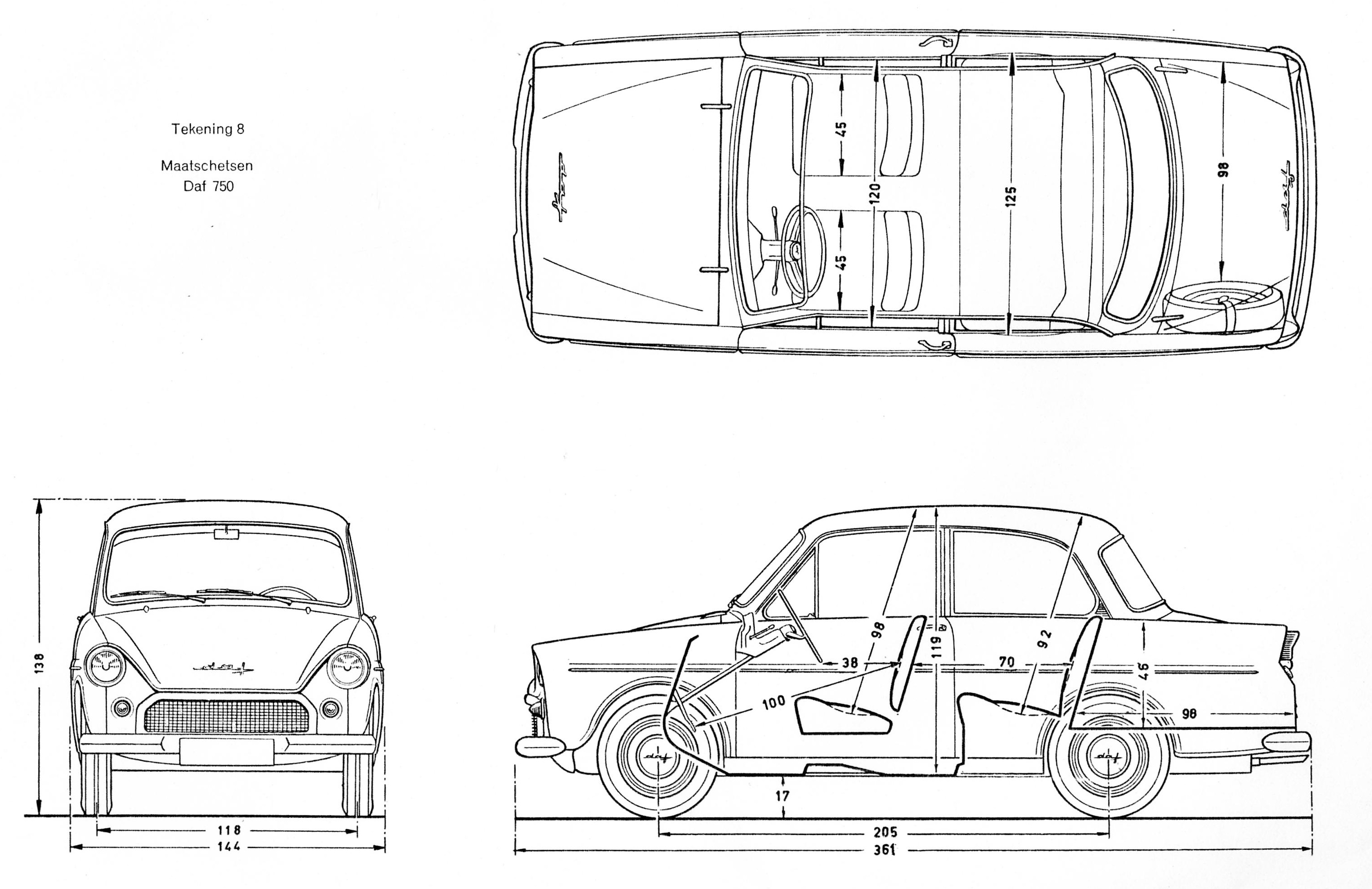 DAF 750 blueprint