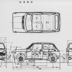 Honda N360 blueprint