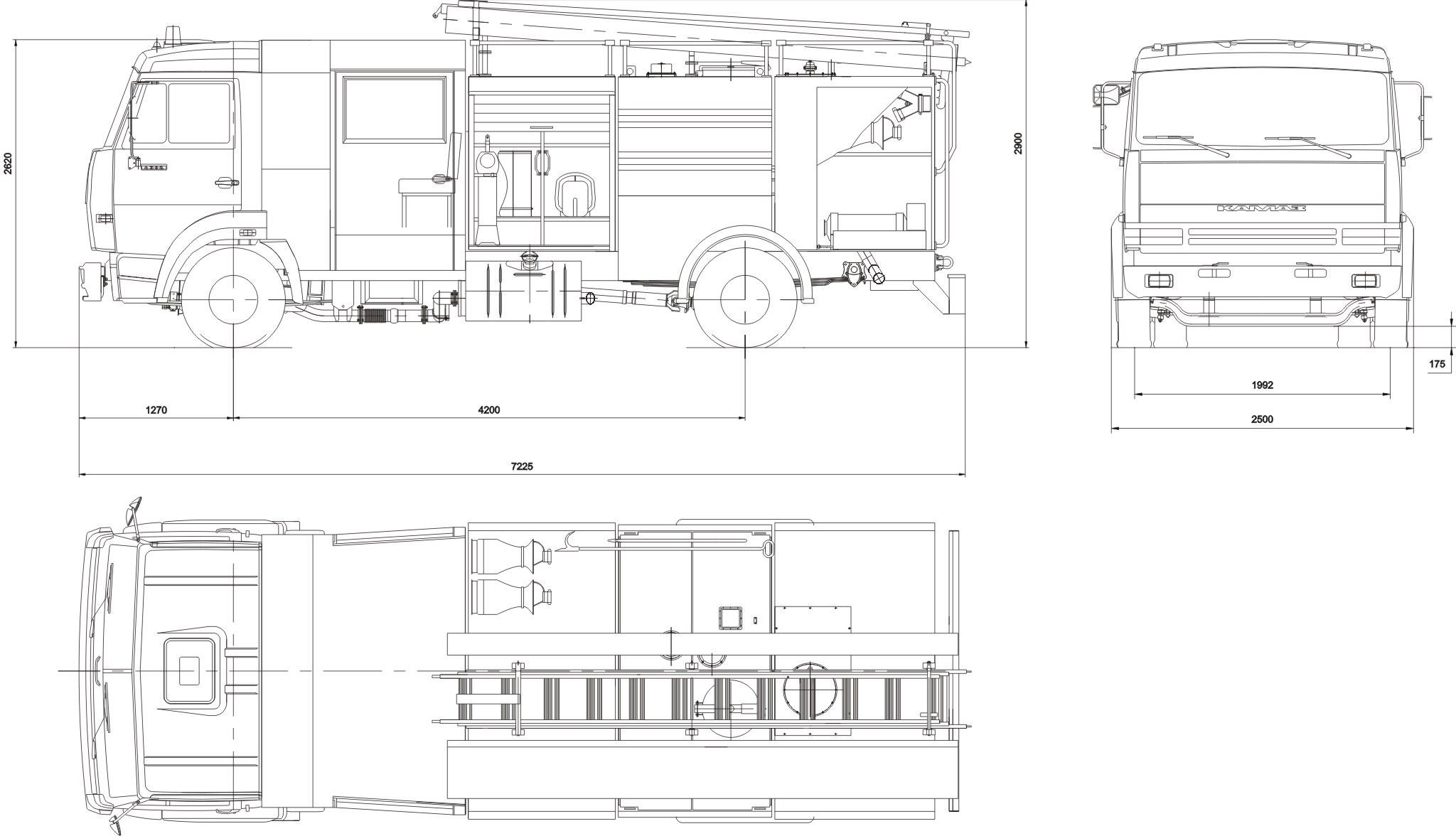 KamAZ 4308 blueprint