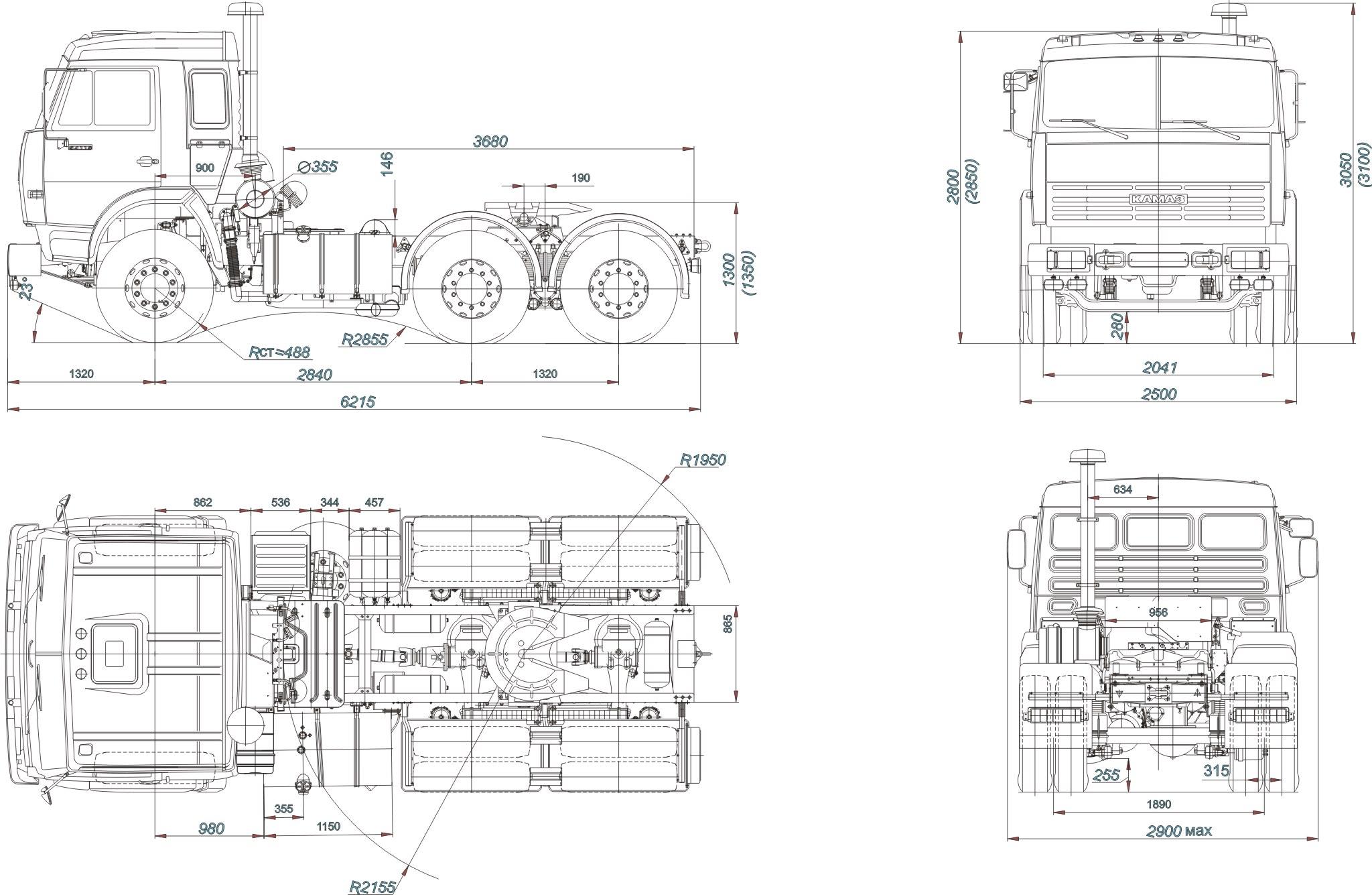 KamAZ-54115 blueprint
