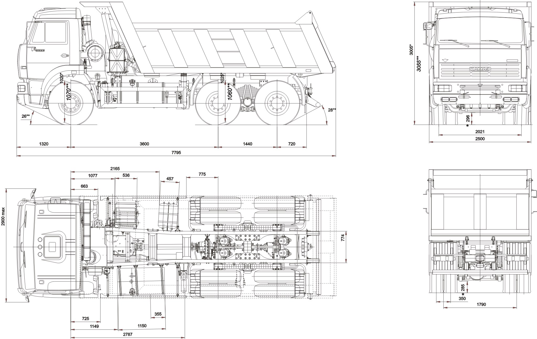 KamAZ 6520 blueprint