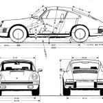 Porsche 911 SC blueprint