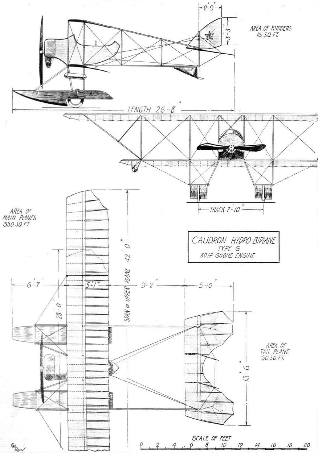 Caudron Type J blueprint