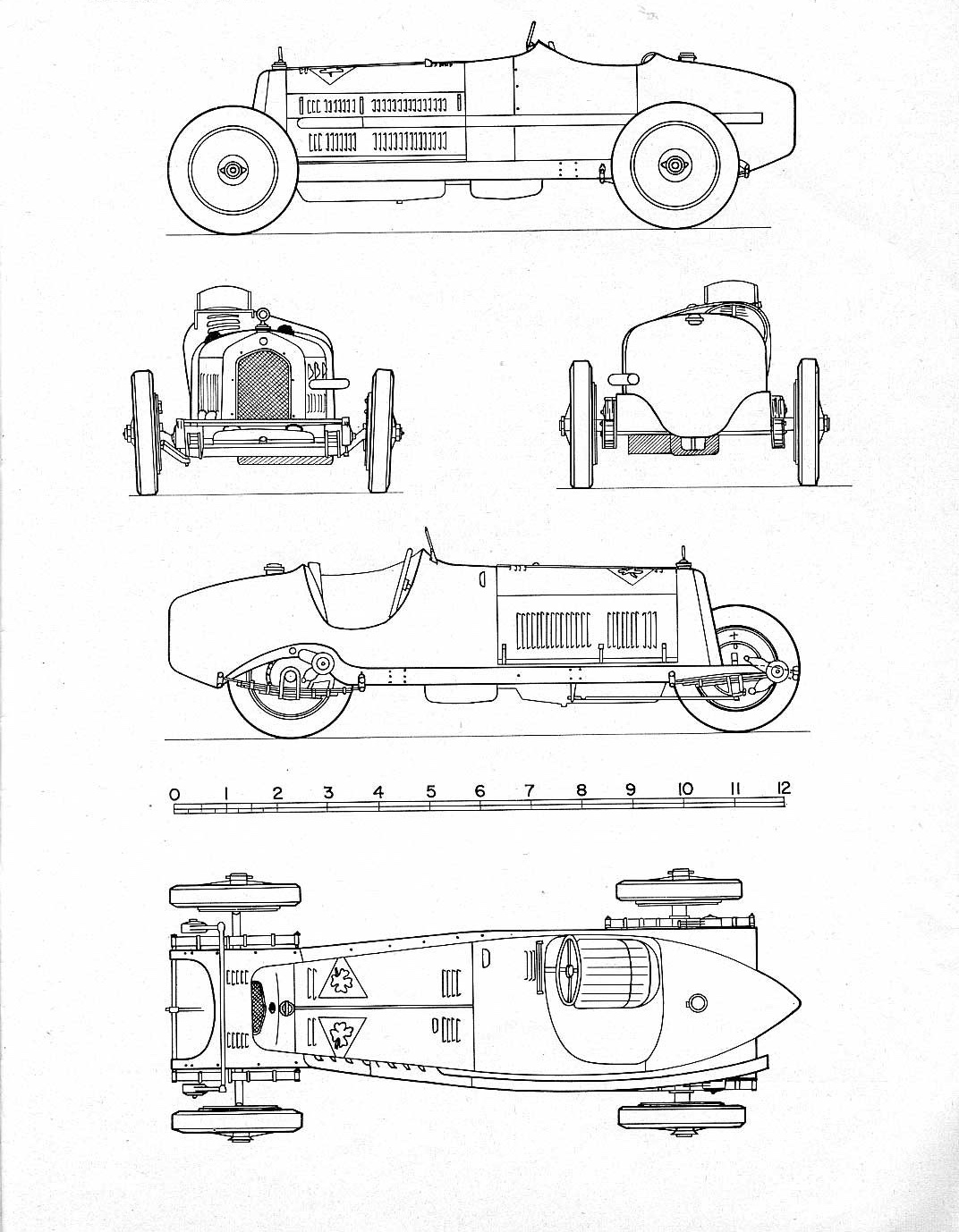 Alfa Romeo P3 blueprint