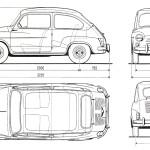 Fiat 600 blueprint