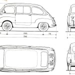 Fiat 600 Multipla blueprint