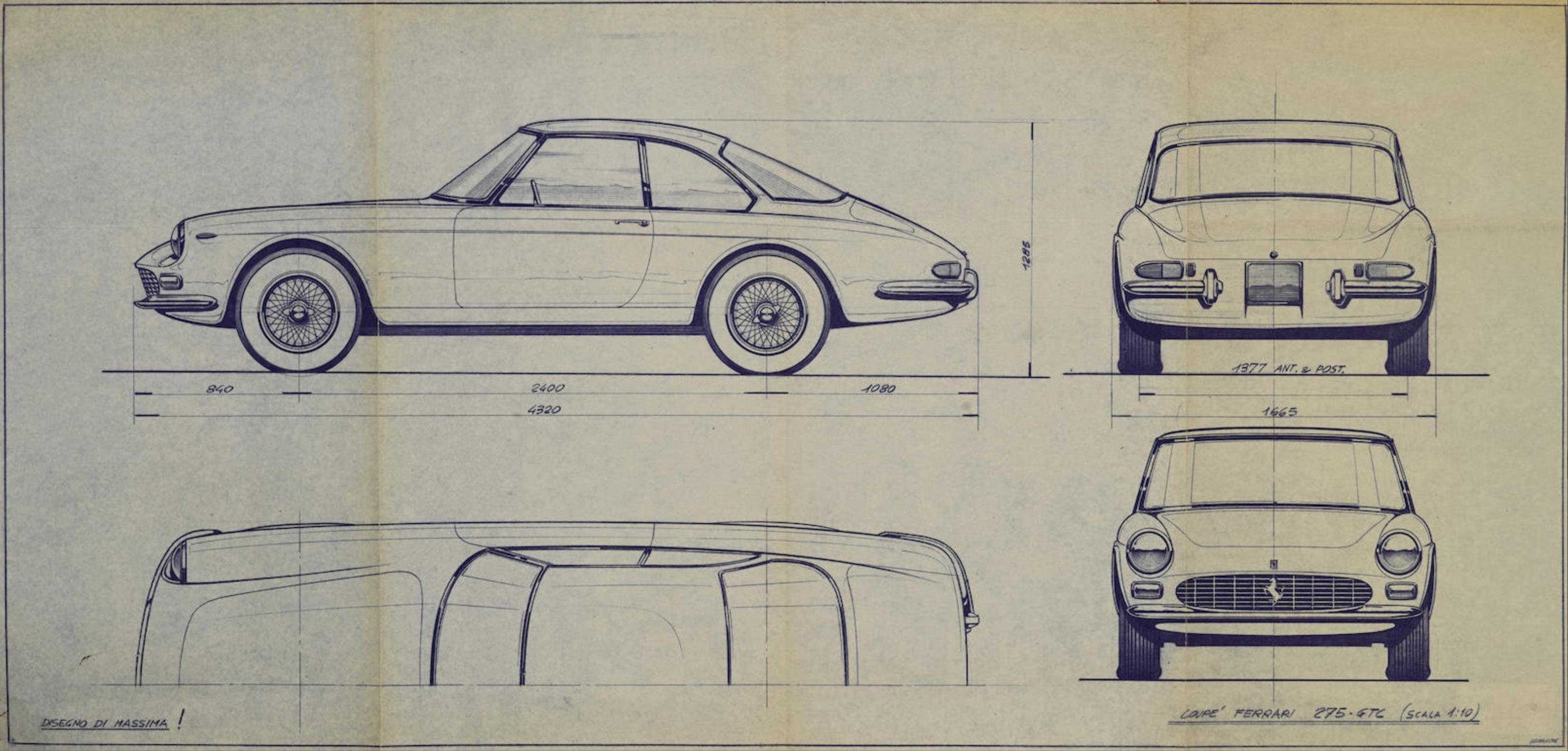 Ferrari 275 GTC blueprint