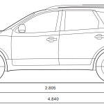 Hyundai Veracruz blueprint