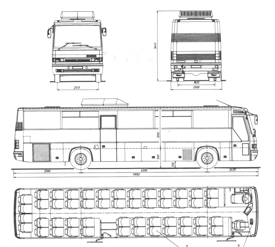 Ikarus 253 blueprint