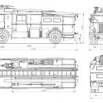 Jelcz Fire truck blueprint