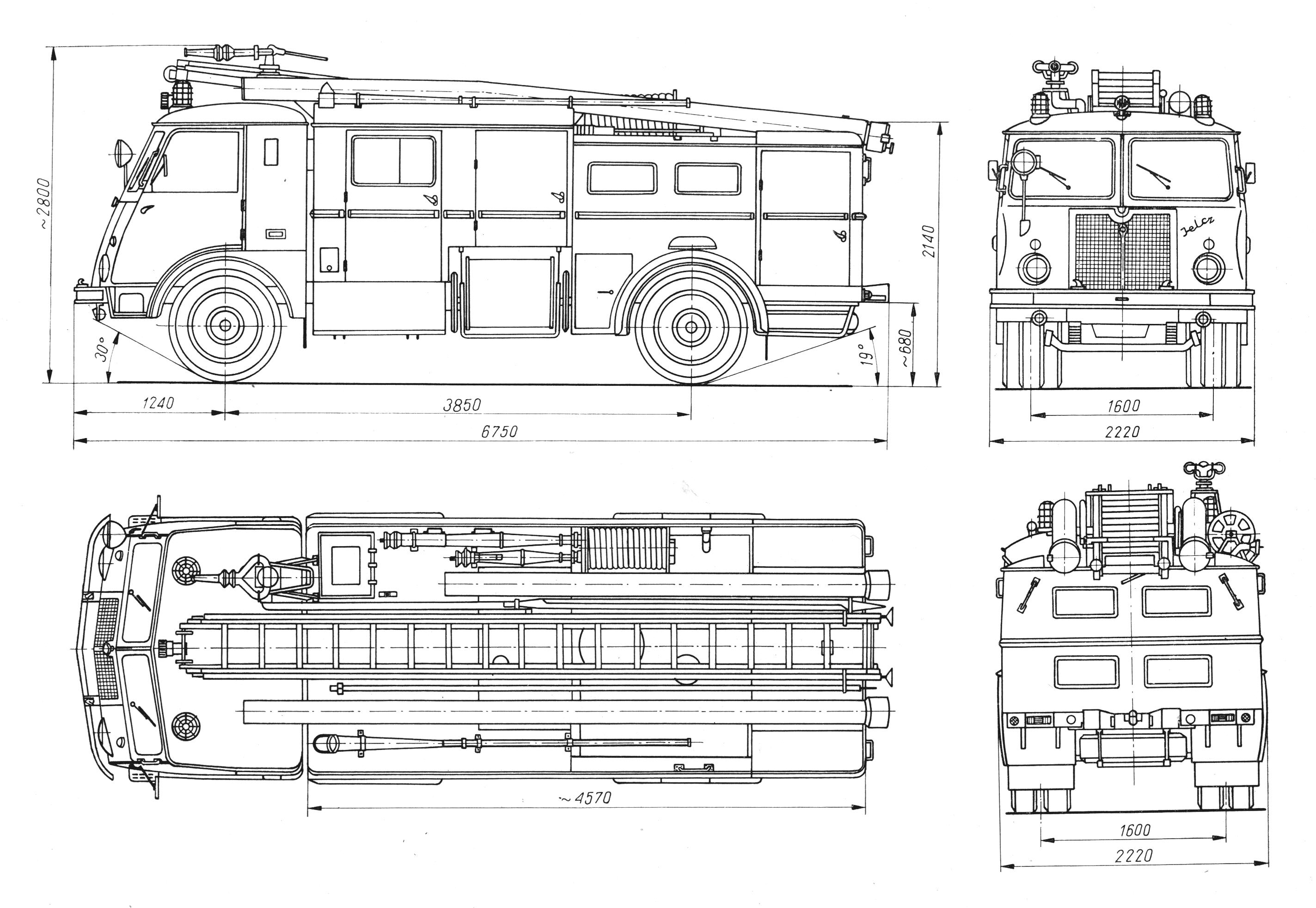 Fire Truck Diagram Wiring Schemes Mack Jelcz 003 Blueprint Download Free For 3d Modeling Electrical Schematic