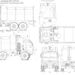 Kamaz fire truck blueprint