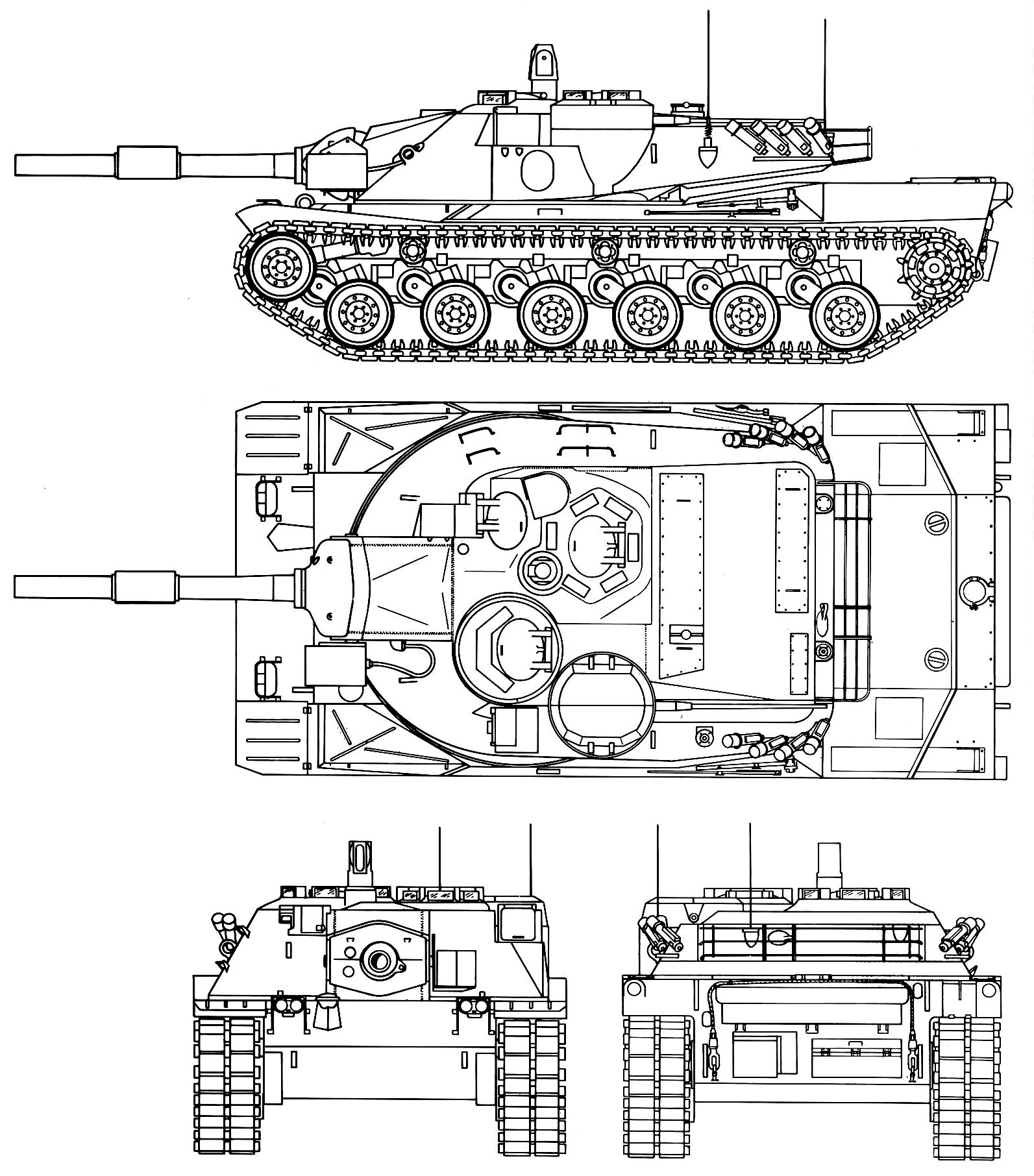 MBT-70 blueprint