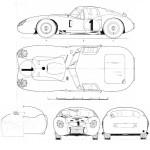 Maserati 450S blueprint