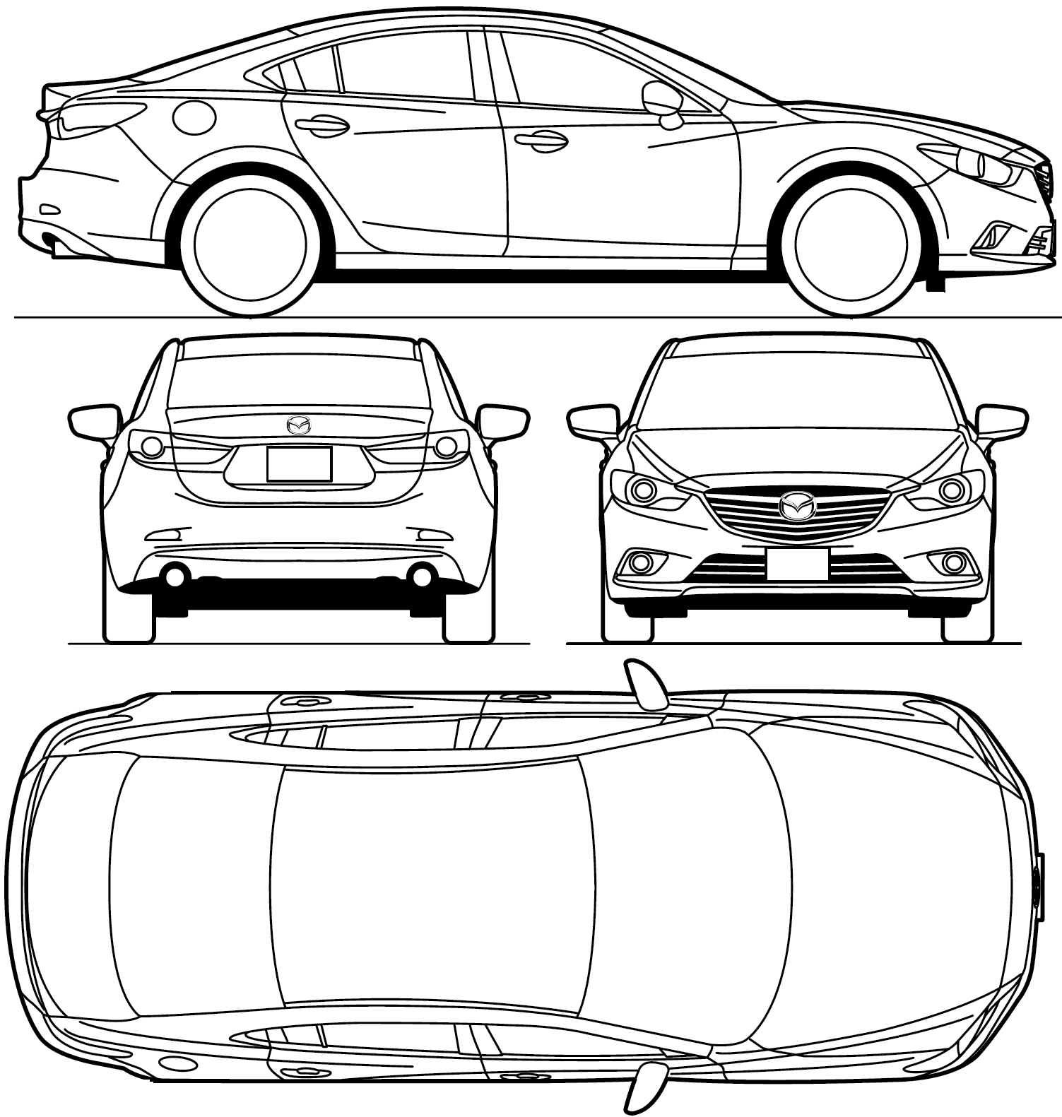 Mazda 6 blueprint