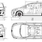 Mazda MPV blueprint