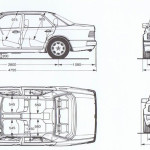 Mercedes-Benz 500E blueprint