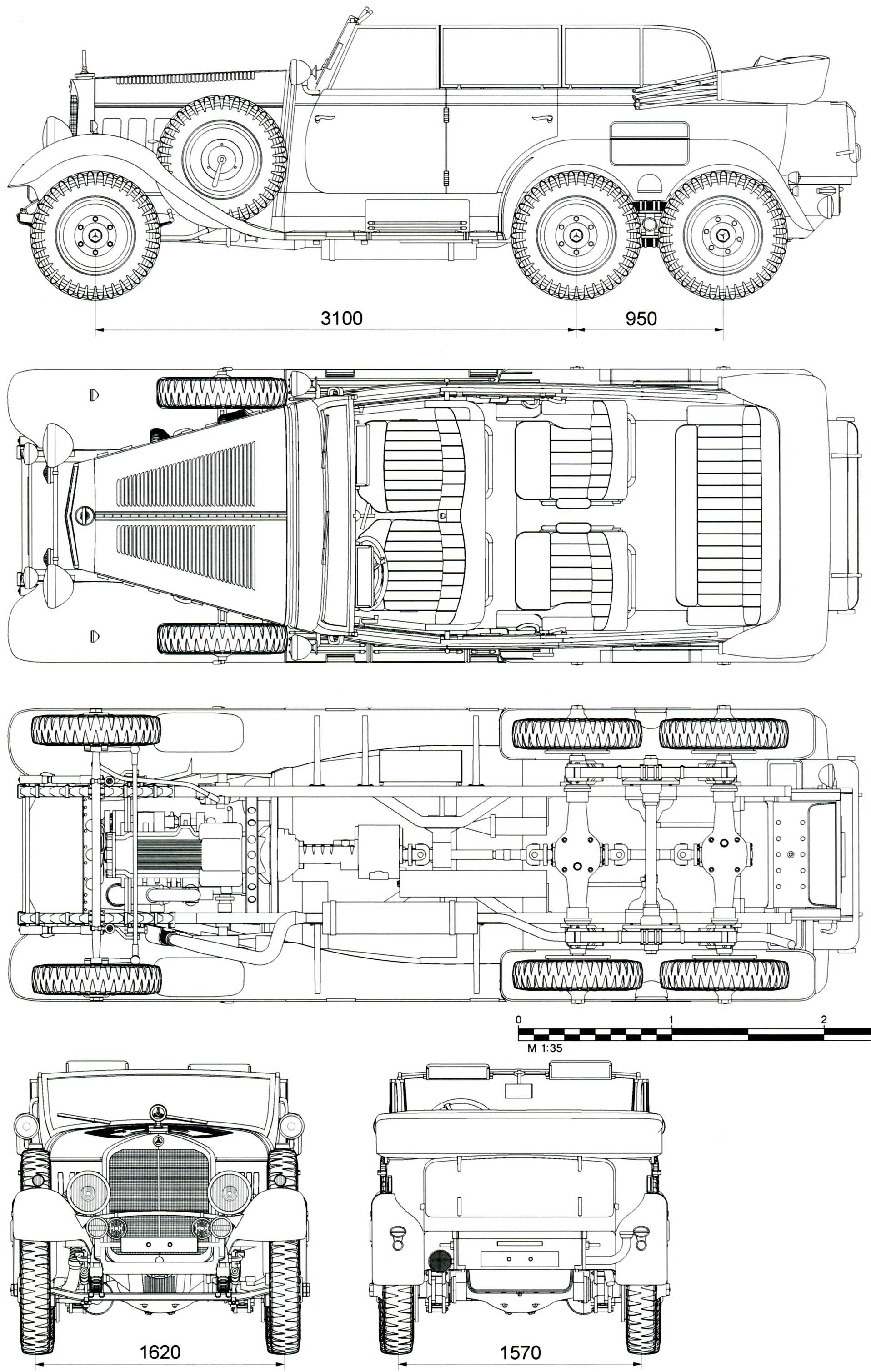Mercedes-Benz W31 blueprint