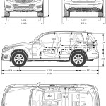 Mercedes-Benz GLK-Class blueprint