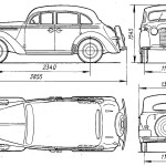 Opel Kadett blueprint