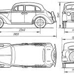 Opel Kadett blueprint