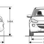 Opel Adam blueprint