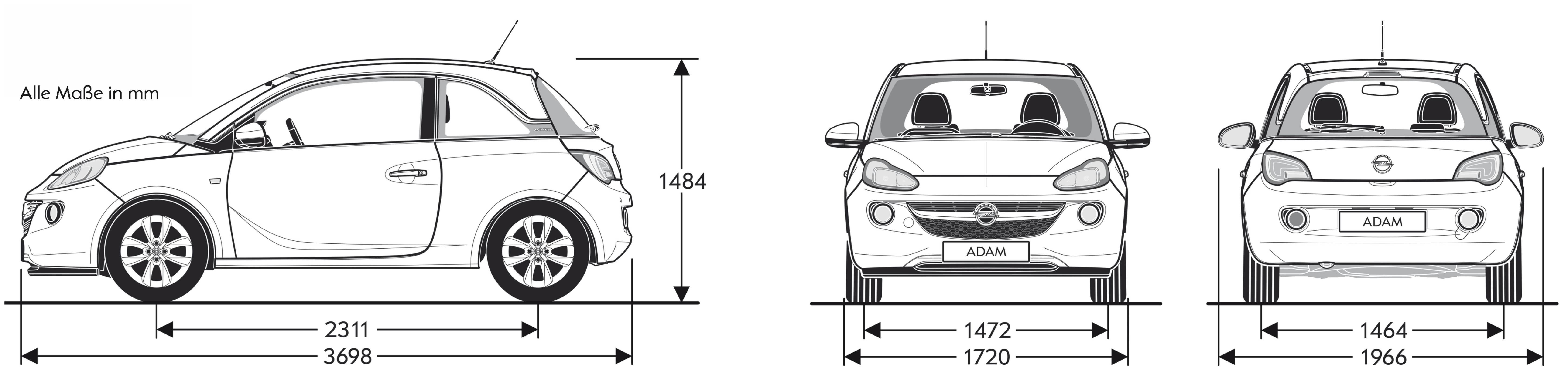 Opel Adam blueprint