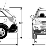 Opel Antara blueprint