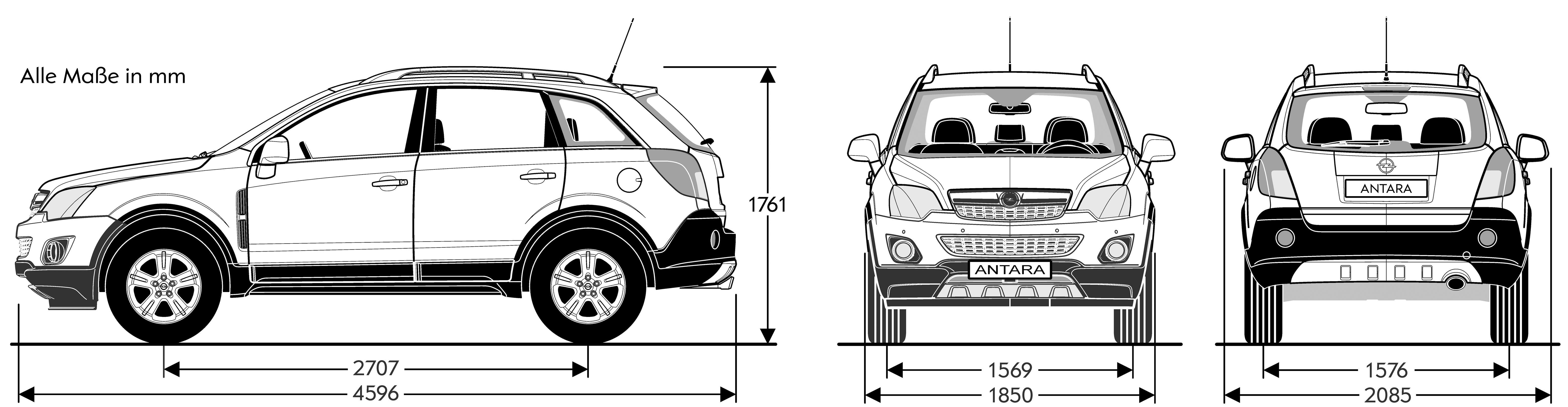 Opel Antara blueprint
