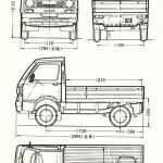 Subaru Sambar blueprint