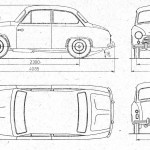 FSO Syrena 100 blueprint