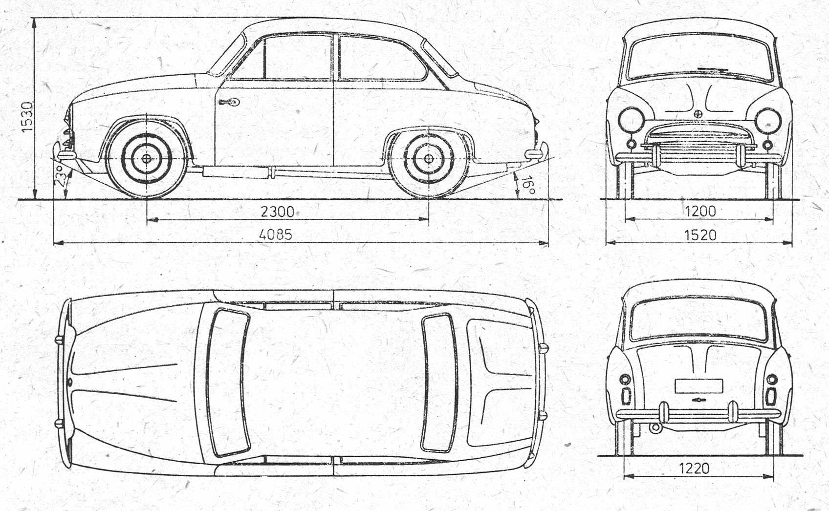 FSO Syrena 100 blueprint