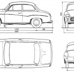 FSO Syrena 105 blueprint