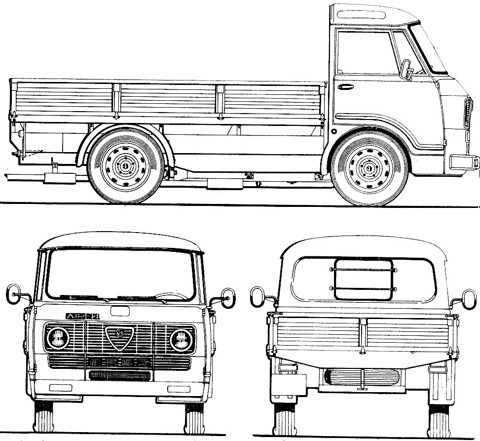 Alfa Romeo Romeo A11 blueprint