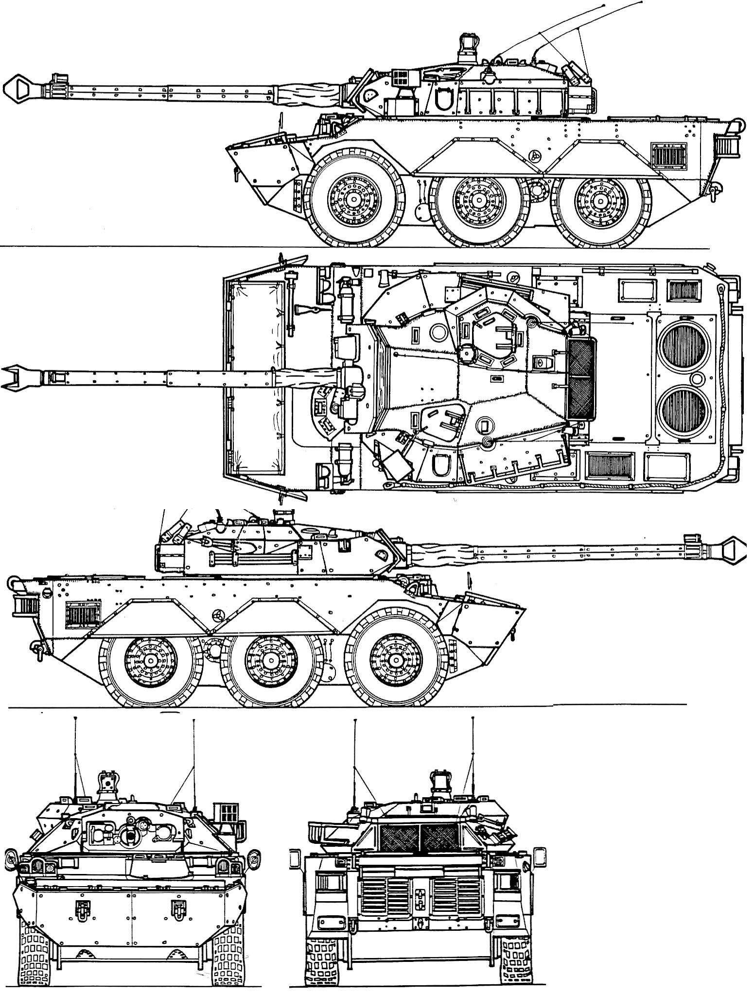 AMX 10 RC blueprint