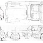 Mercedes-Benz 300SL blueprint