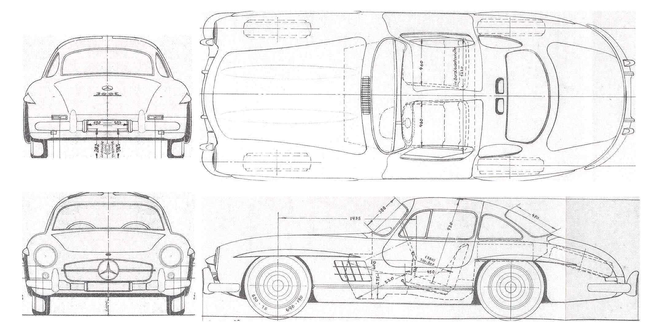 Mercedes-Benz 300SL blueprint