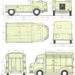 Citroën H Van blueprint