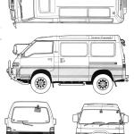 Mitsubishi Delica blueprint