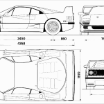 Ferrari F40 blueprint