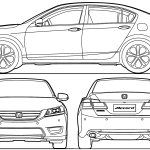 Honda Accord blueprint