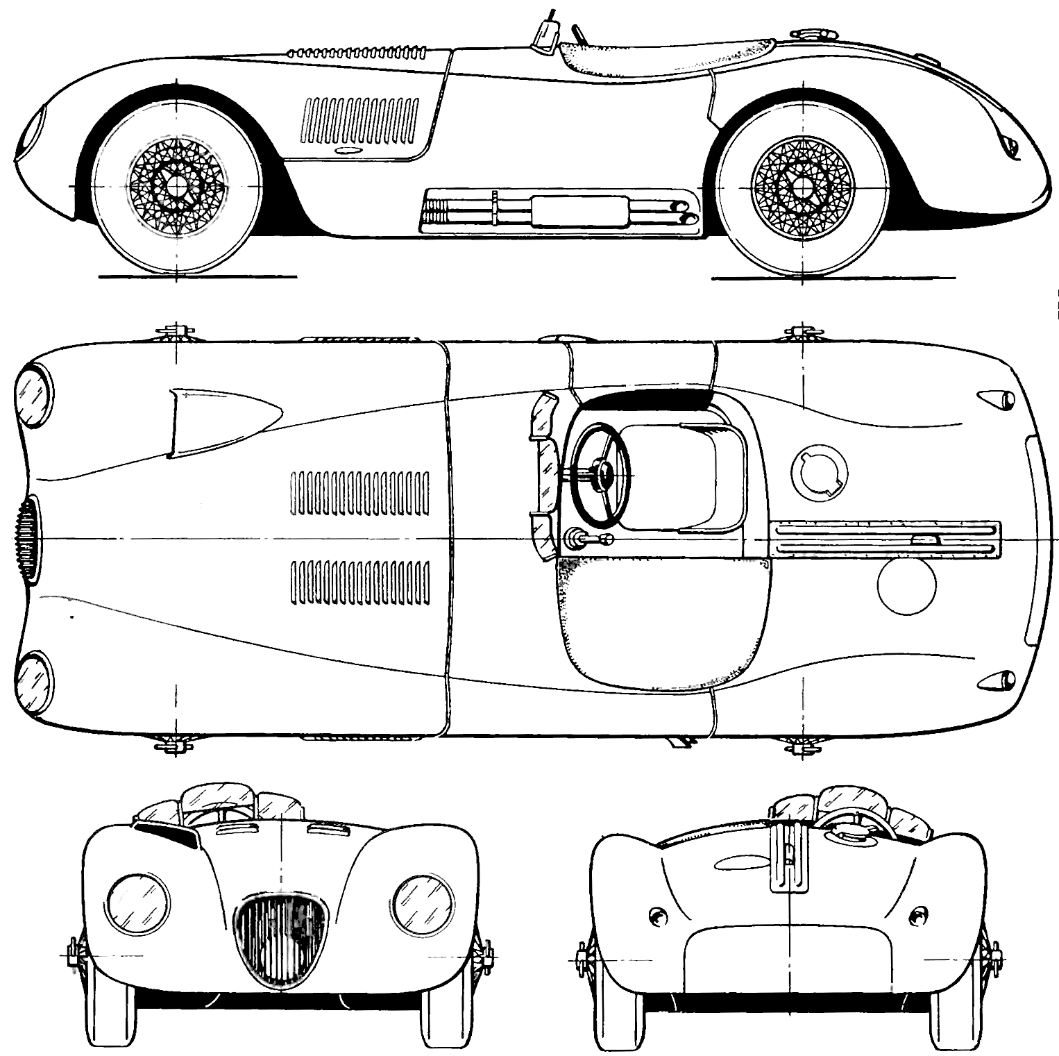 Jaguar c type blueprint download free blueprint for 3d modeling jaguar c type blueprint malvernweather Gallery