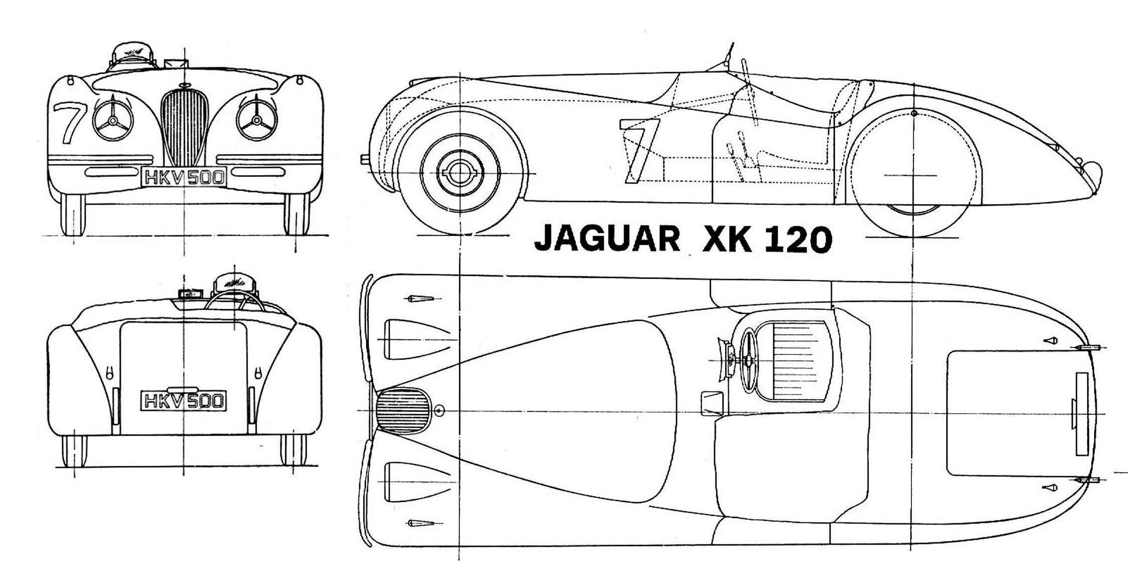 Jaguar XK120 blueprint