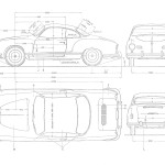Volkswagen Karmann Ghia blueprint
