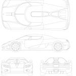 Koenigsegg CCX blueprint