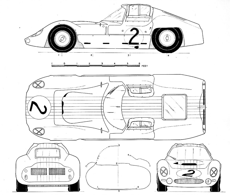 Maserati Tipo 151 blueprint