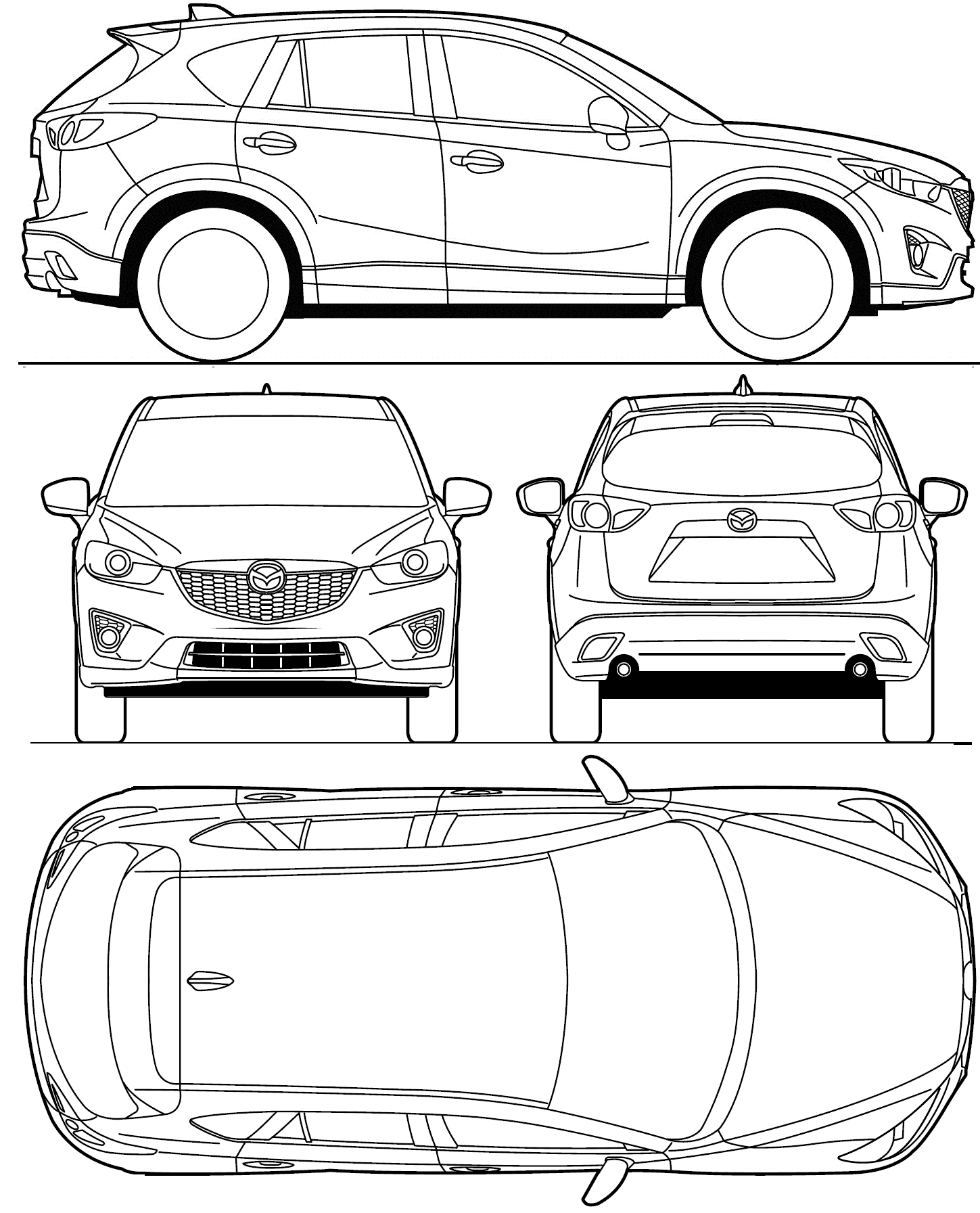 Mazda CX-5 blueprint