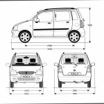 Opel Agila blueprint