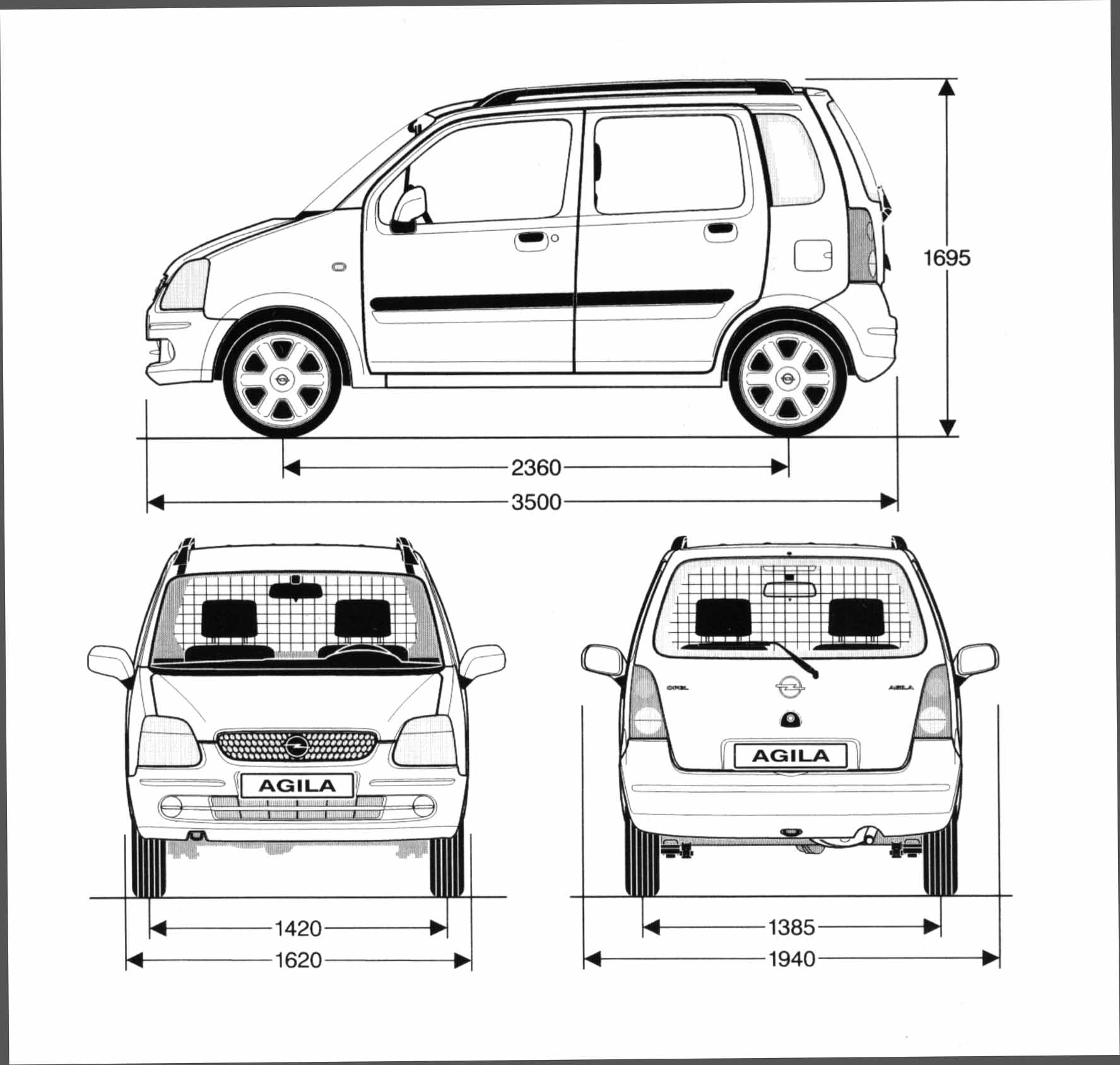 Opel Agila blueprint