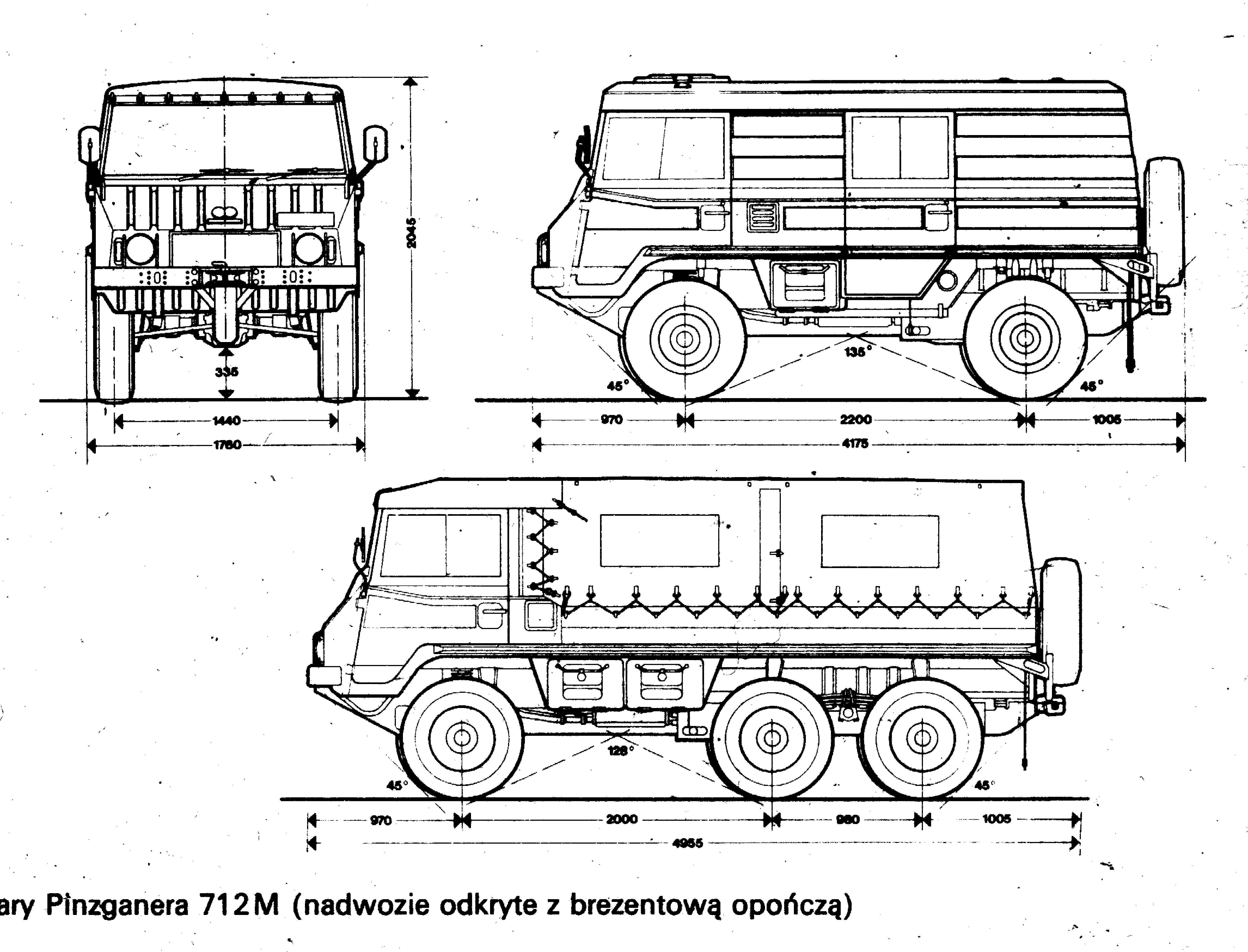 Pinzgauer High-Mobility All-Terrain Vehicle Blueprint - Download ...